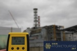 Geiger Counter in front of Chernobyl Reactor 4