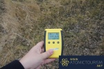 Geiger Counter in the countryside surrounding Chernobyl